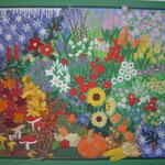 2008 © VIER JAHRESZEITEN 100x120cm, malt bakrunn, håndapplikasjon & -broderi, håndquilting, bomull