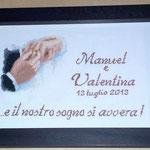 quadro mani sposi Manuel e Valentina