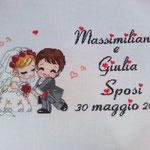 "quadro "" SPOSI TIMIDI"" Massimiliano e Giulia"