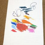 3歳の男の子のバスタオル。カラフルなクレヨンを使うと、すてきなアートに!