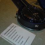 Die Setlist für Bergheim, serviert an Banjo in Koffer! Der letzte Song blieb aus Zeitgründen ungespielt.