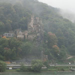 雨の中のライン河くだり 「ソーネック城」