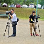 報道陣もコース彼方此方で撮影されていました