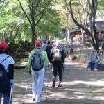 鴨池公園ログハウス付近をウォーキング