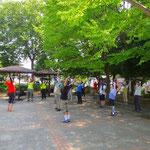 初めての泉田公園でのウォーミングアップ