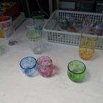 お手製のガラス製品も販売しています