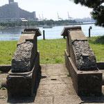 ペリー黒船来航に備えられた砲台の跡
