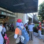 江田駅で水分補給・トイレ休憩 日蔭でホッと一息