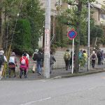 江田駅北側の住宅地をウォーキング