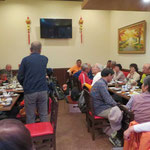 初めての「昼食忘年会」33名の参加で盛り上がりました