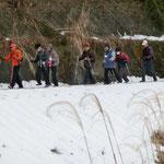 残雪の多い場所があり、注意しながらウォーキング