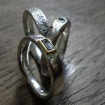 Oberflächen Ringe Aquamarin