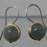 Aquamarin, Messing, Silber