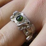 Ring Turmalin grün