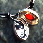 Medaillon Silber, Carneol