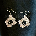 Earrings. Sterling silver, 3.5 centimetres. - Inquire at info@hettmannstudio.com or (705) 377-4625.