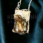 Necklace. Sterling silver and amber, 5.5 centimetres. - Inquire at info@hettmannstudio.com or (705) 377-4625.