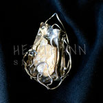 Pendant. Sterling silver, freshwater pearl. - Inquire at info@hettmannstudio.com. or (705) 377-4625.