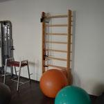 Fitnessraum Reha Center Dess Neumarkt mit Sprossenwand und Medizinball