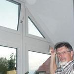 Hoch gelegene Fenster wie in Wintergärten sind meist schlecht erreichbar. Mit WINFLIP kein Problem - die Zugschnur ist auf jeden Fall erreichbar.