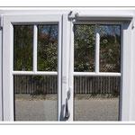 Horizontale Montage bei einem zweiflügeliges Fenster (mit Schnurumlenkung)