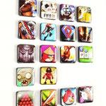 Nur bei uns: Game-Magnets, 18 Stück im Set
