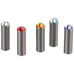 Neodym-Longmagneten mit farbigen Swarovskikristallen, im 10er Set