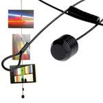 Fotoseile, 150 cm lang, in Schwarz oder Weiss, mit passenden Neodymmagneten