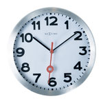 Nur 19 cm im Durchmesser, lautloses Uhrwerk, Aluminium/Glasgehäuse...