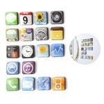App-Magnets, 18 Stück im Set