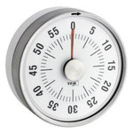 Kurzzeitwecker bis 55 Minuten, mechanisch, hält magnetisch, aus Metall..