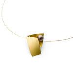 Halsschmuck, Brillant, Tahitiperle, Gold