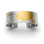 Armspange, Silber / Gold / Weissgold