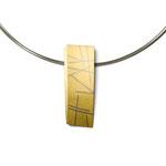 Halsschmuck, Silber / Gold