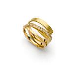 Ring, Brillanten, Gold