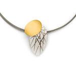Halsschmuck, Brillant, Silber / Gold