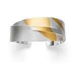 Armspange, Silber / Gold