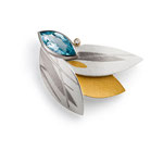 Halsschmuck Topas, Brillant, Silber / Gold / Platin