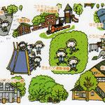 幼稚園内マップ(ファミリーウォーカー)