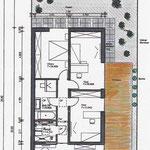 Grundriss Plan mit Außenanlage