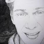 """""""Selfie"""" - Filzstift auf Papier, 100 x 70 cm"""