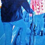 """Blue Man"" - Acryl auf Leinwand, 100 x 80 cm"