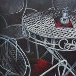"""""""Cafe""""  -  Acryl auf Leinwand, 80 x 80 cm"""