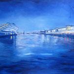 """Blaue Stunde"" - Acryl auf Leinwand, 80 x 120 cm"