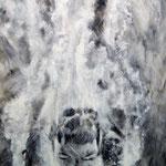 """""""Abgetaucht"""" - Graphit und Öllasuren auf Leinwand, 120 x 80 cm"""
