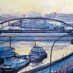 """""""Elbblick"""" - Acryl auf Leinwand, 70 x 100 cm"""