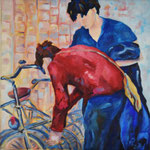 """""""Dienstag""""  -  Öl auf Leinwand, 40 x 40 cm"""
