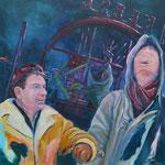 """""""""""Zwei Freunde""""  -  Acryl auf Leinwand, 80 x 80 cm"""