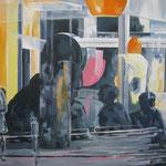 """""""Blaupause"""" - Acryl auf Leinwand, 80 x 100 cm"""