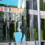 """""""Shopping mal"""" - Acryl auf Leinwand, 100 x 80 cm"""